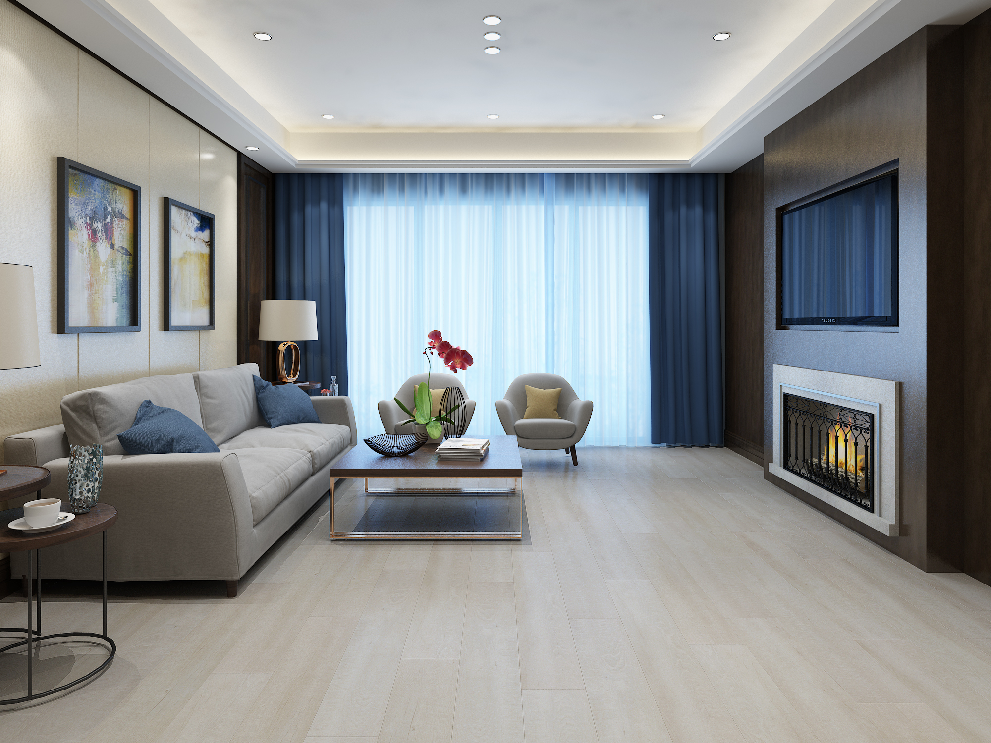 White Coral Parkay Floors