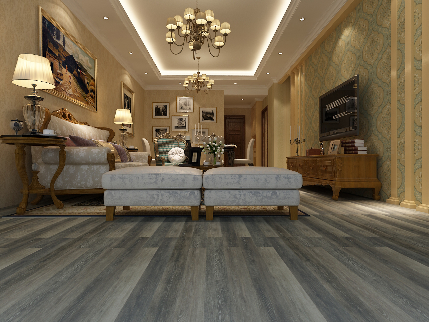 Tudor Brown Parkay Floors